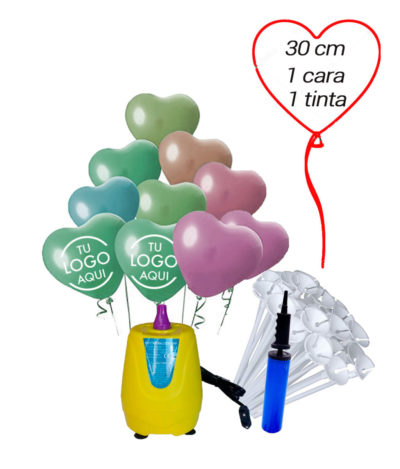 Pack Corazón 1000 Globos